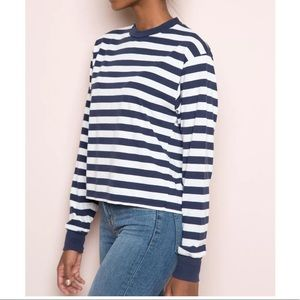 Brandy Melville Gretchen Long Sleeve Stripped Top